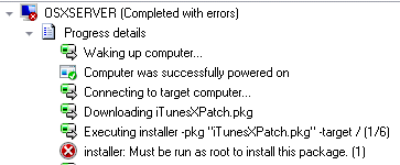 Missing root priviledges